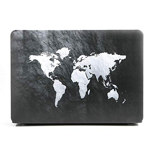 """24x7 eMall Rubberized Hard Shell Cover Compatible Old MacBook Air 13"""" (2010-2017 Release) (13 Inch Air (Old Version), World Map)"""