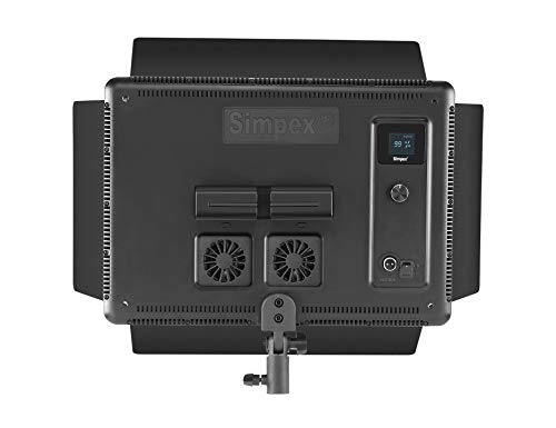 Simpex LED 1500 Bi Color Professional LED Video Light Panel with Magnetic Diffuser and Barn Door for Broadcast and Video Shoot