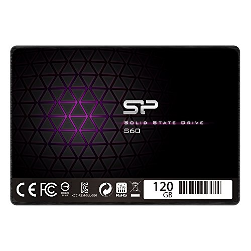 """Silicon Power 120GB S60 2.5"""" 7mm SATA III 6Gb/s Internal Solid State Drive (SP120GBSS3S60S25)"""