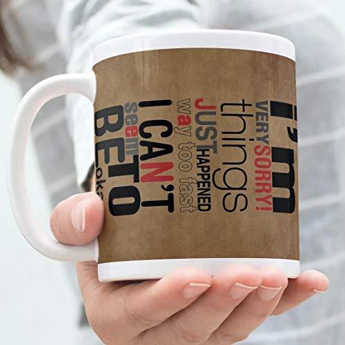 "360Edutech, I am Sorry Coffee Mug Cup, 11OZ / 325ML, Merchandise, Gift, Accessories, ""A"" Grade Ceramic, Food Grade Long Lasting Print, Microwave & Dishwasher Safe, IASMV1"