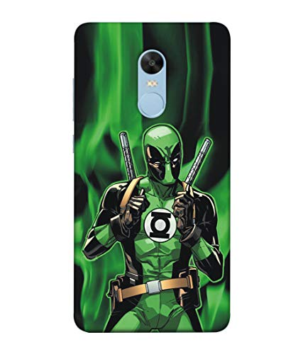 S SMARTY Designer Printed Plastic Mobile Back Case Cover for Redmi Note 4 (Green Deadpool)