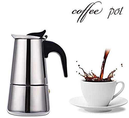 MegaDeal Stainless Steel Espresso Coffee Maker/Percolator Coffee Moka Pot Maker (Silver)