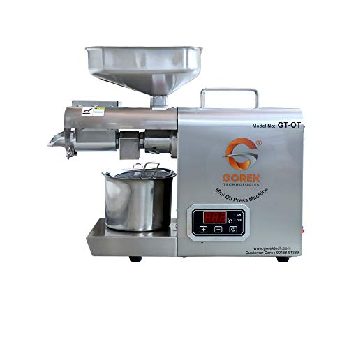 Gorek Technologies GT-OT Oil Press, Oil Maker Machine 600W Advanced Technology- with Simplified Temperature Controller and Higher Capacity (Food Grade Stainless Steel)