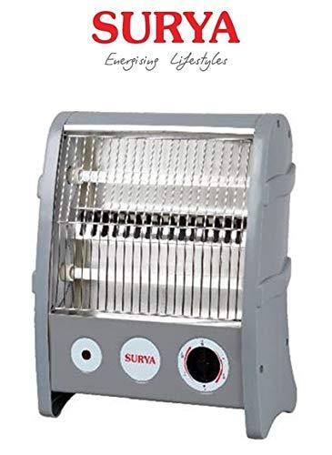 Surya Quartz 2 Rod Halogen Heater 800-Watt with Overheating Protection (Ivory) || 1 Year Warranty || Model -Surya Quartz