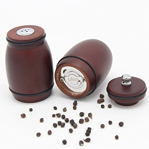 LWVAX® Wooden Salt and Pepper Grinder with Stand (Shaker Set)