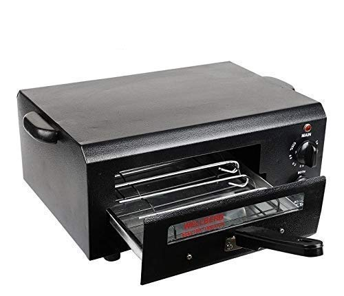 WELLBERG Timer Electric Tandoor Super Bigger Size (19.5 INCH'S) with Time Controler (All Accessories)/Black/