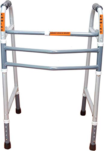 AMMINO INDIA Portable Light Weight Height Adjustable Foldable Walker for Men Women Adults Patients & Old age People