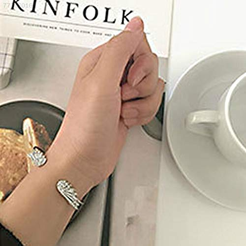 ELECTROPRIME E39B Fashion Womens Crystal Rhinestone Sliver Plated Angel Wing Bracelet Bangle