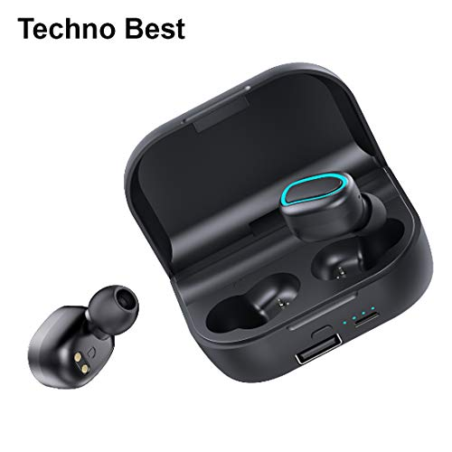 Techno Best S10 Professional Bluetooth 5.0 chipset Wireless Bluetooth Earphones with Charging Case
