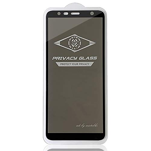 LIDGRHJTHTGRSS Mobile Phone Accessories Screen Protectors for Galaxy J4 Plus / J6 Plus Anti-Glare Full Screen Tempered Glass Film (Black) (Color : Black)