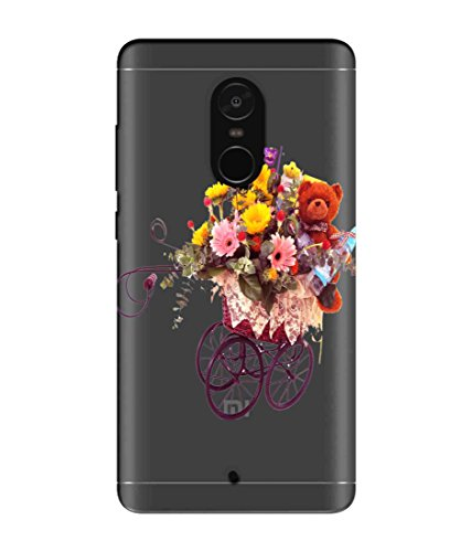 Snooky Printed Teddy Flower Mobile Back Cover of Xiaomi Redmi Note 4 - Multicolour
