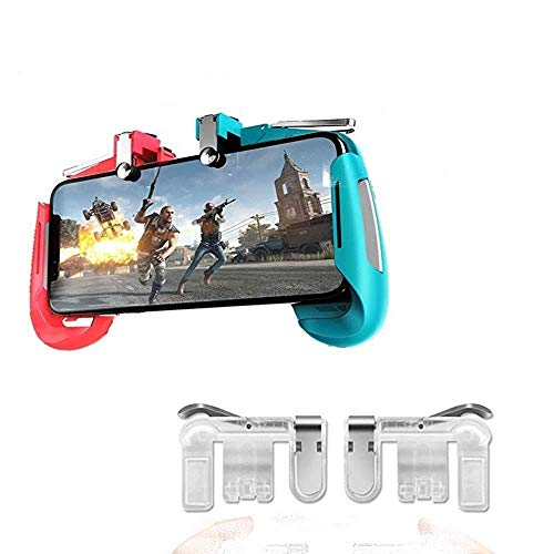ICALL 2 in 1 AK16 Gamepad Remote Handle Grip Wireless Controller Joystick with Metal Buttons Trigger Key for Android iOS Smart Phone Gaming and Metal Trigger
