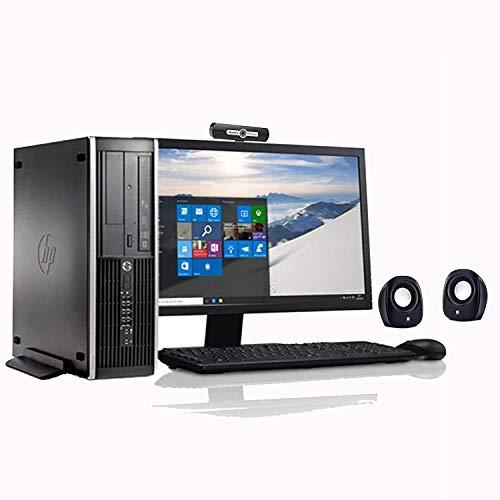 """(Renewed) HP 18.5 Inch All In One Desktop set (Intel C2D - E8400 Dual Core/4 GB/320 GB /Ultra Slim CPU/18.5"""" Monitor+Keyboard+Mouse+ Webcam+Mic+Speakers+Wifi/Warranty/Windows 7 Pro/MS Office 2013)"""