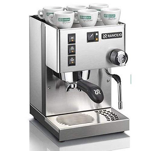 Rancilio Silvia V6 Espresso Machine, 220-240V, 15bar Pump, Stainless Steel (14kgs) (Rancilio Silvia Silver)