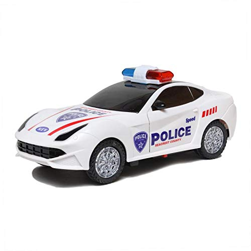 Joanna White Colourful Lights Multicolour Musical/Battery Operated Automatic Open Door Police Car