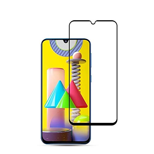 JUUANFDFINGD Cell Phones Screen Protectors for Galaxy M31 2PCS 0.33mm 9H 2.5D Full Glue Tempered Glass Film