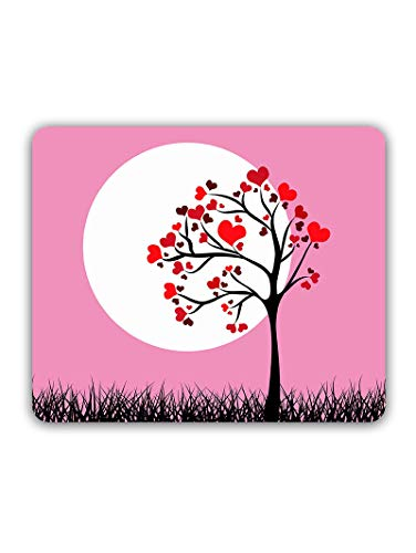 Madanyu Designer Mousepad Non-Slip Rubber Base for Gamers - HD Print - Heart Tree Romantic Artwork