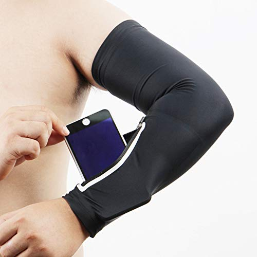 Leoie Mobile Phone Stretch Arm Bag Running Riding Sunscreen Armband Wrist Bag Long XL