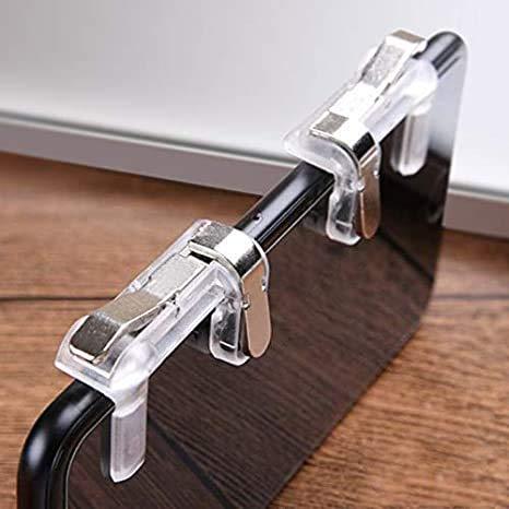 BOKA® Slope Shape Pubg Metal Triggers Cum Gamepad Joystick Compatible with All Smartphones - (Silver)