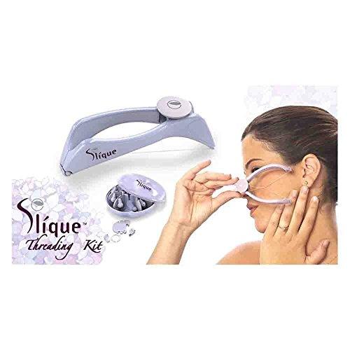 Almand Slique Eyebrow Face and Body Hair Threading Removal Epilator System Kit