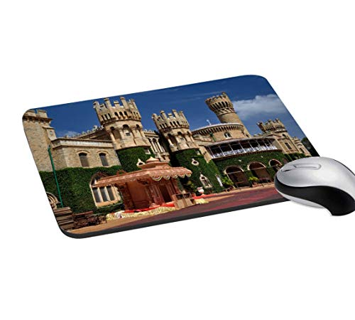 RADANYA Historical Place Mouse Pad Non-Slip Rubber Gaming Mouse Pad Mat for Laptop Computer & PC 7.2x8 Inches, Brown & Green