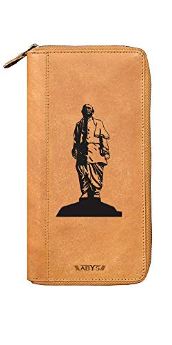 ABYS Genuine Leather Unisex Passport Holder  Purse  Passport Cover  Mobile Cover  Business Card Case for 4 Passports (Tan-Sou)