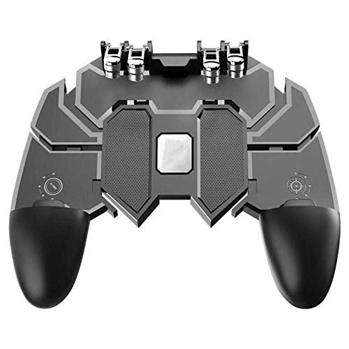 ICALL Presenting AK66 6 Finger All-in-One PUBG Mobile Remote Controller Gamepad -Black