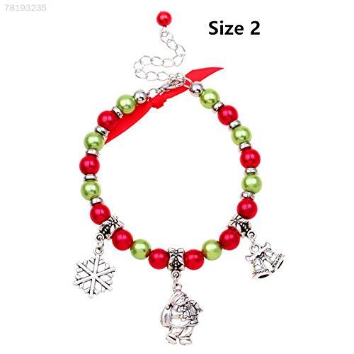 ELECTROPRIME 132C Christmas Bracelet Santa Claus Pendant Fashion Charm Woven Bangle Jewelry