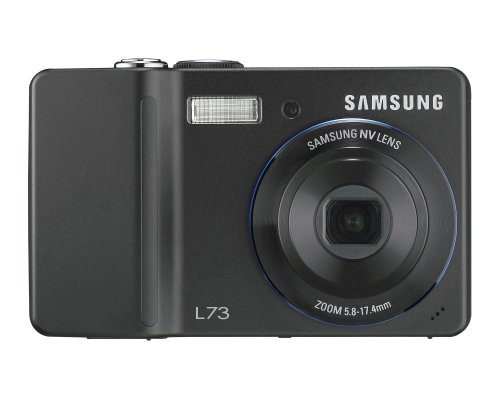 Samsung Digimax L73 7MP Digital Camera with 3X Advance Shake Reduction Optical Zoom (Black)