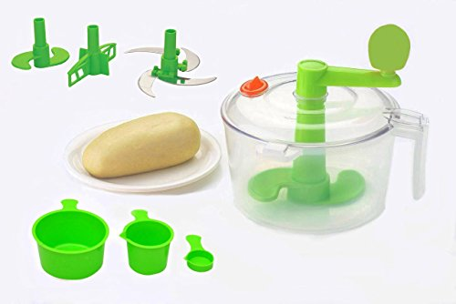 One Stop Shop Slings Atta Dough Maker with Beater, Chop & Churn 3in1, Green