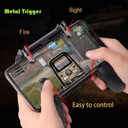 Suman Enterprise All-in-one Mobile Joystick Gamepad Game Controller Trigger for Fire-Free PUBG