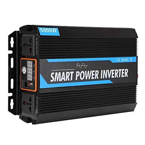 KKmoon-1 5000 Power Inverter DC 12V to 220V AC Car Inverter 10000W Peak Power Auto Power Inverter USB Port AC Socket Car Power Charger Inverter Car Plug Converter Pure Sine Wave Inverter with Cooling Fan