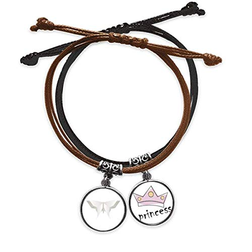 DIYthinkerWhite Origami Abstract Butterfly Pattern Bracelet Rope Hand Chain Leather Princess Wristband