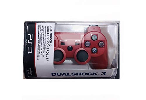 Arupadai's DualShock Wireless Controller for PlayStation 3 | Professional PS3 Wireless Gamepad for PlayStation 3/ PS3 Slim / PS3 Super Slim/PS3 Fat by - Classic Red Limited Edition