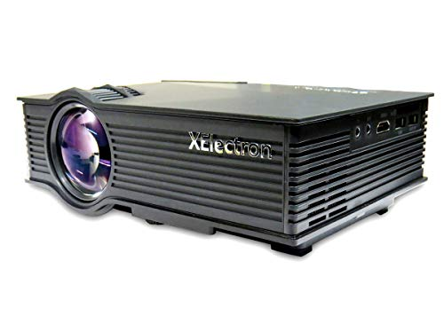 "XElectron G16 MIRACAST LED HD Projector - HD 1920 X 1080 - HDMI - USB - VGA - 120"" Display (Black)"