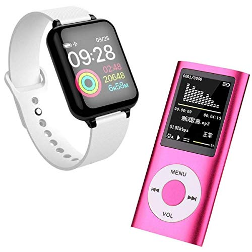 Abooza Offer 2nd Gen MP4 Player with Voice Recorder/FM Radio and Music Player and ZA1 Smartwatch with Bluetooth Calling with capacitive Touch Screen
