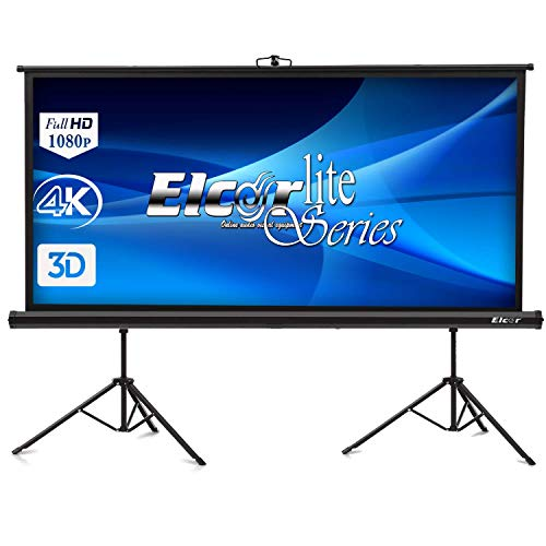 ELCOR 150-inch 4.03 Aspect Ratio HD, 3D and 4K Technology Tripod Projector Screens(8x10ft)