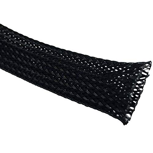 Rpi shop - 10mm Polyester Braided Sleeve, Nylon Braided sleeve, Wire sleeve braided expandable sleeve for good wire protection, Color Black, 2 Meter