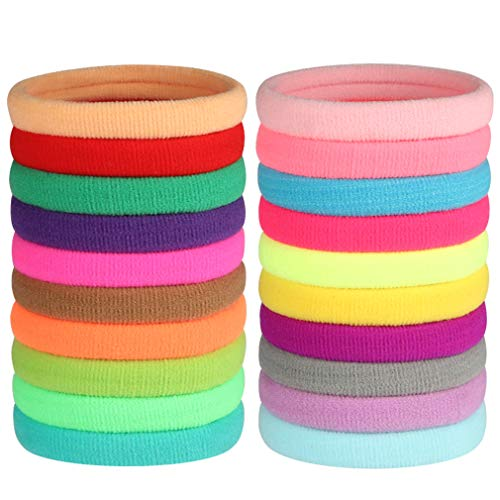 GOSICUKA Soft And Stretchy Hair Ties Seamless Fabric Ponytail Holdersmixed Colors