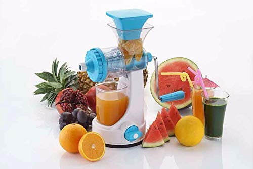Ganesh Creation Galaxy Hand Juicer for Fruits and Vegetable with Steel Handle and Juice Collector (Assorted Colours)