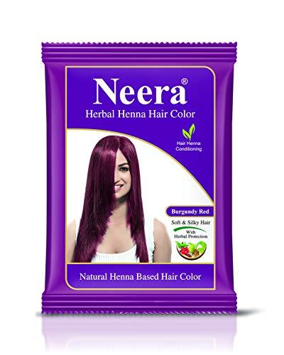 GREEN Neera Herbal Natural Henna Hair Color 15G Pack(Pack of 10) (Burgundy Red)