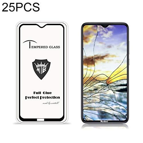 JUUANFDFINGD Cell Phones Screen Protectors 25 PCS for Xiaomi Redmi Note 8 Anti-Glare Full Screen Tempered Glass Film