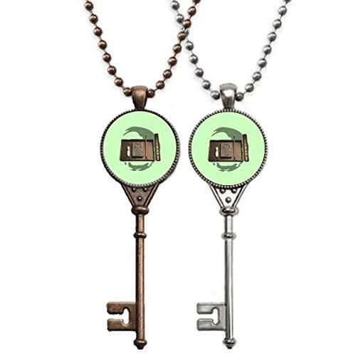 offbbPrevious Convention Literature Key Necklace Pendant Jewelry Couple Decoration