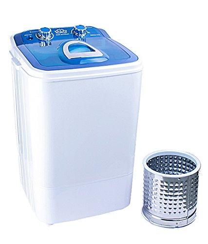 DMR 4.6 kg Inverter Single Tub Portable Semi Automatic Top-Loading Mini Washing Machine with Steel Dryer Basket (DMR 46-1218 (W2Yr), Blue)