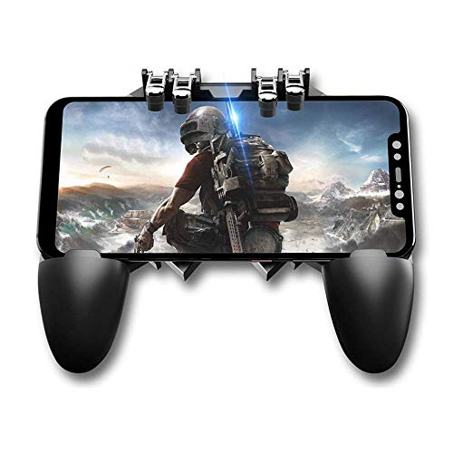 Sunnybuy AK66 MEMO Mobile Game Controller for PUBG Six Finger All-in-One Mobile Phone Triggers Controller Free Fire Button Joystick Gamepad for iOS & Android Phone