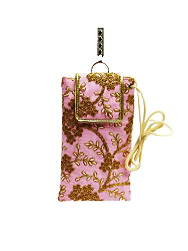 STYLO G Women's Mobile Cover for big mobile phones with Purse Pocket and Sari Hook-BABY PINK