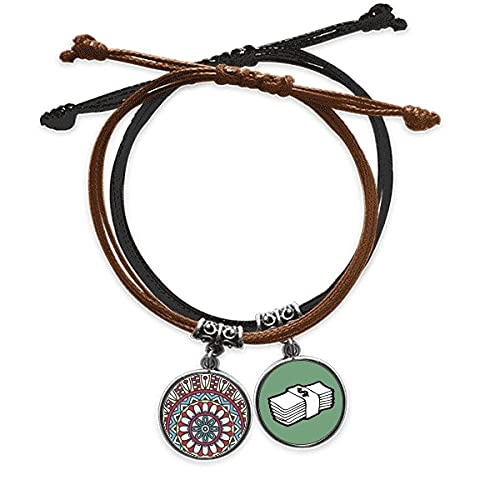 Bestchong DIYthinkerPrinting Repeat Cloth Red Blue Colorful Art Bracelet Rope Hand Chain Leather Money Wristband