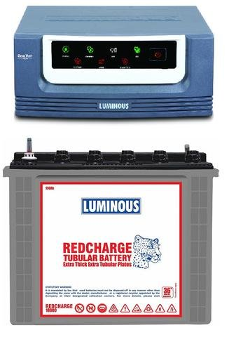 Luminous Eco Volt 1050 Inverter with Red Charge 18000 150Ah Tubular Battery