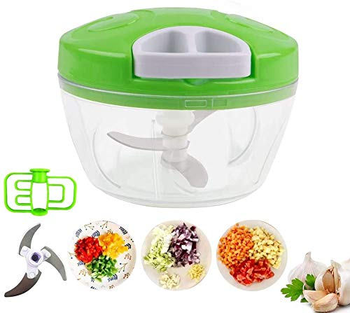 Cloud Zexen Mart Handy and Compact Chopper with 3 Blades for effortlessly Chopping Vegetables and Fruits for Your Kitchen