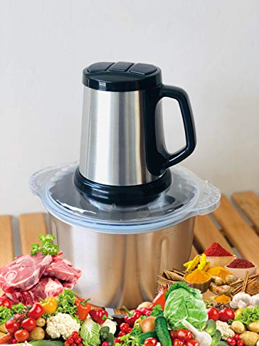 Maharaj Mall Food Chopper Mixer Blender, Food Processor 500W Stainless Steel 5L Bowl Chopper Meat Grinder for Meat Vegetables Fruits Onion Spices